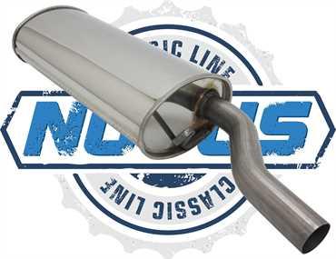 Novus Classic Line Edelstahl Endschalldämpfer für Golf 1 1.8 GTI / Golf 1 Cabrio