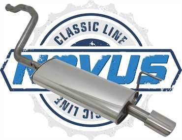 Novus Classic Line Edelstahl Endschalldämpfer für Audi 80 B4
