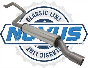 Novus Classic Line Edelstahl Vorschalldämpfer für Golf 1 Cabriolet 1.8 2H
