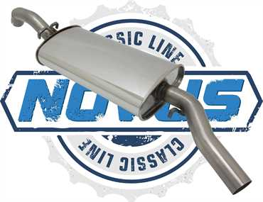Novus Classic Line Edelstahl Endschalldämpfer für Golf 2 1.8