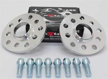 Spurverbreiterung Set 20mm inkl. Radschrauben für Opel Astra F