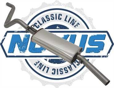 Novus Classic Line Edelstahl Endschalldämpfer für Golf 1 Scirocco 1
