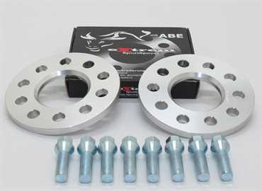 Spurverbreiterung Set 10mm inkl. Radschrauben für Opel Tigra A