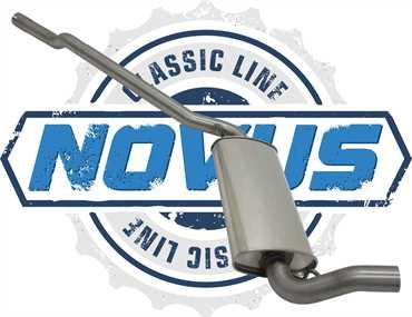 Novus Classic Line Edelstahl Vorschalldämpfer für Audi 80,90 2.0/2.2/2.3