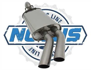 Novus Classic Line Edelstahl Endschalldämpfer für Golf 2 1.8 16V GTI