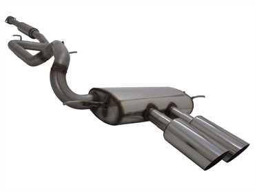 Novus Sportauspuff Anlage für Ford Focus Turnier MK3 ST 2x100mm MS-Design
