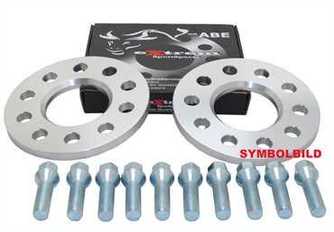 Spurverbreiterung Set 20mm inkl. Radschrauben für VW Fox