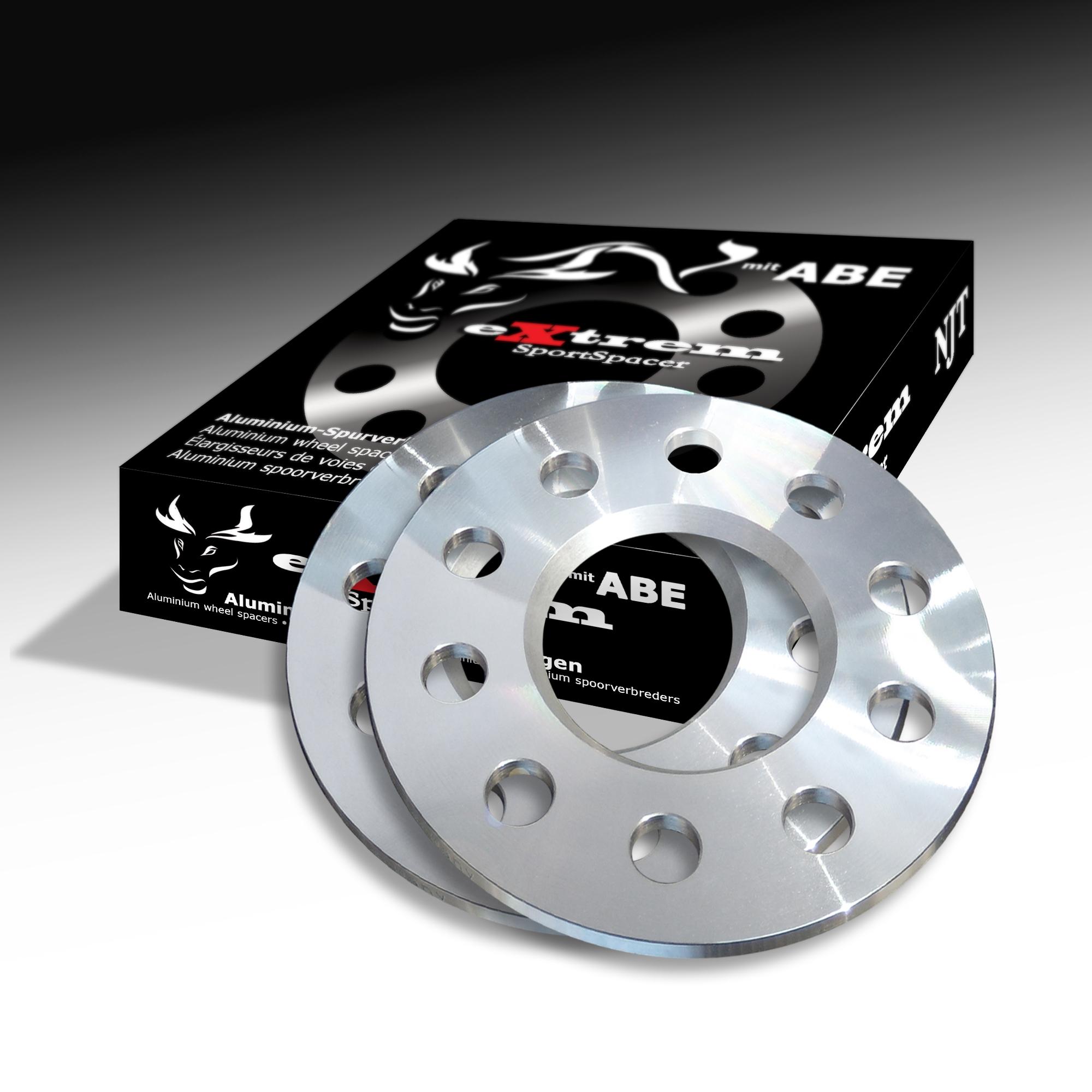 5mm 10209W/_10/_M1425KE33W mit Schrauben schwarz 4x100 56,1mm BlackLine Spurverbreiterung 10mm